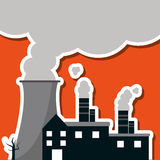 Graphic design of pollution vector illustration