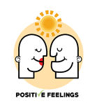 Graphic design of Positive Feeling  , vector illustration Royalty Free Stock Photos