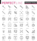 Graphic design program tools palettes. Thin line web icons set. Interface outline stroke icon design. Graphic design program tools palettes. Thin line web icons Stock Photo