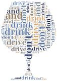 Graphic design related to driving after alcohol Royalty Free Stock Image