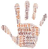 Graphic design related to driving after alcohol Stock Photos