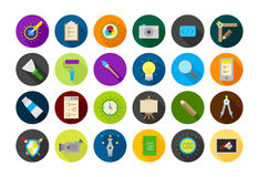Graphic design round  icons set Royalty Free Stock Photography