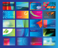Graphic design for a set of modern flat business cards Stock Photography