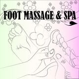 Foot massage and spa sketch art design Royalty Free Stock Photography