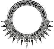 Graphic design style. Graphic design ethnic eyes necklace neckline vector illustration