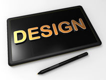 Graphic design tablet Stock Photography