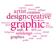 Graphic design tags Stock Images