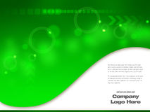 Graphic design Template. Green Hi Tech - Abstract Design artwork Royalty Free Stock Photo