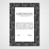 Graphic design template document with abstract monsters. Royalty Free Stock Photos