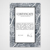 Graphic design template document with hand-drawn waves. Royalty Free Stock Photo