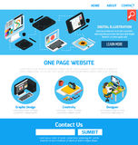 Graphic Design Template For Website Stock Photography