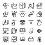 Graphic design thin line icons set Royalty Free Stock Photography