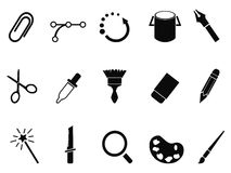 Graphic design tools icon set Stock Images