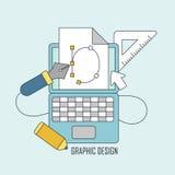 Graphic design tools Stock Photo