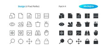 Graphic Design UI Pixel Perfect Well-crafted Vector Thin Line And Solid Icons 30 2x Grid for Web Graphics and Apps. Simple Minimal Pictogram Part 4-4 Royalty Free Stock Images