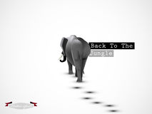 Graphic design vector of elephant go back to the jungle vector Royalty Free Stock Photography