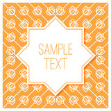 Graphic design vintage frame for logo and badges Royalty Free Stock Photos