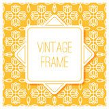 Graphic design vintage frame for logo and badges Royalty Free Stock Photography