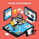 Graphic Design Webinar Concept vector illustration