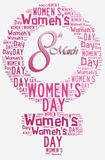 Graphic design Women's Day related in shape of female symbol Stock Photos