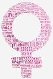 Graphic design Women's Day related in shape of female symbol Stock Images