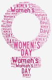 Graphic design Women's Day related in shape of female symbol stock illustration