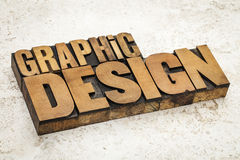Graphic design in wood type Royalty Free Stock Image