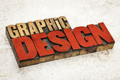Graphic design in wood type Stock Photography