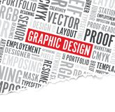 Graphic design word background Royalty Free Stock Image