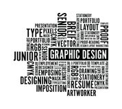Graphic design word background Royalty Free Stock Images