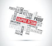 Graphic design word background Stock Images