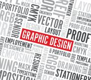 Graphic design word background Royalty Free Stock Photos