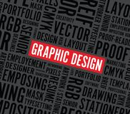 Graphic design word background Royalty Free Stock Photography