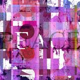 Graphic design with word peace. And colorful texture Royalty Free Stock Photo