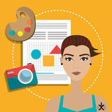 Graphic design work occupation, Royalty Free Stock Photography