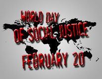 Graphic design World Day of Social Justice related Royalty Free Stock Images