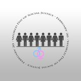 Graphic design World Day of Social Justice related Royalty Free Stock Image