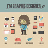 Graphic Designer Stock Photo