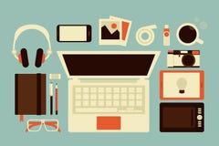 Graphic designer accessories. Flat design Stock Photos