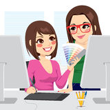Graphic Designer And Assistant Stock Photos