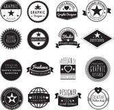 Graphic designer or freelance logo template vector illustration