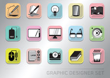 Graphic designer icon set Stock Image
