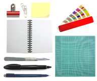 Graphic designer office collection Royalty Free Stock Photography