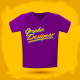 Graphic Designer shirt vector lettering Stock Photography