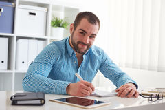 Graphic designer sketching design Stock Image
