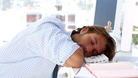 Graphic designer sleeping stock footage