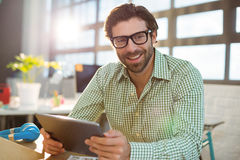 Graphic designer using digital tablet Stock Photos