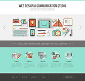 Graphic designer web template. Advertising, communication and creativity concept Royalty Free Stock Image