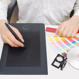 Graphic designer at work Royalty Free Stock Images