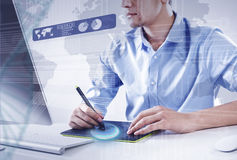 Graphic designer at work Royalty Free Stock Photography